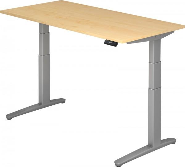 Schreibtisch XBHM16, 160 cm, elektrisch höhenverstellbar, C Fuß-Gestell