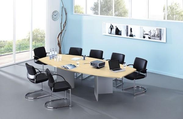 Konferenztisch 280 cm, mit Holzuntergestell