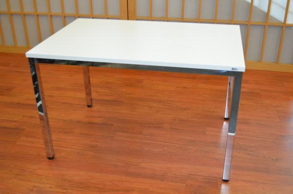 Schreibtisch - 80 cm - weiß / Chrom - Heyne