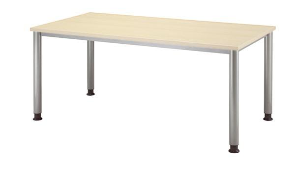 Schreibtisch gerade 160 cm, Tischfüße in Graualuminium
