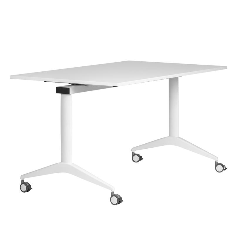 Konferenztisch Klappbar.Konferenztisch Flip Top 160 Cm Rollbar Klappbar Weiß