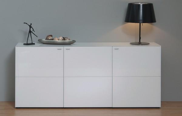 Sideboard - 3 Türen - weiß