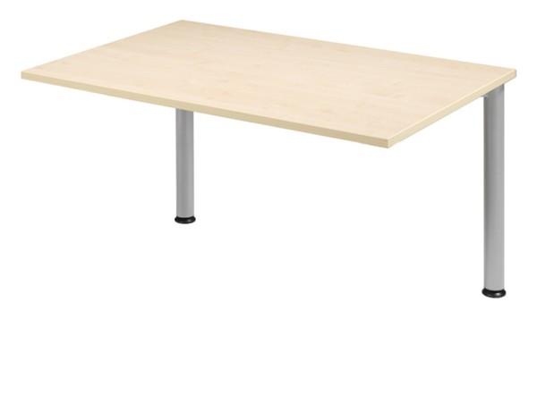 Schreibtisch-Zwischenelement gerade 120 cm, 2 Füße, stufenlos höhenverstellbar