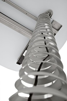Kabelspirale vertikal 70 - 114 cm in Silber
