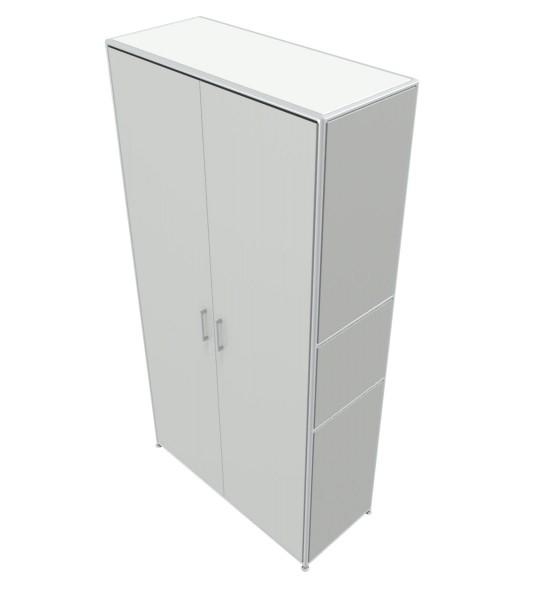 Regal 5 OH mit Türen - Bosse Modul Space - weiß