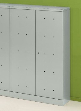 Stahl-Schrank Switch - hoch, 4 Böden, abschließbar - alusilber - Siqnatop