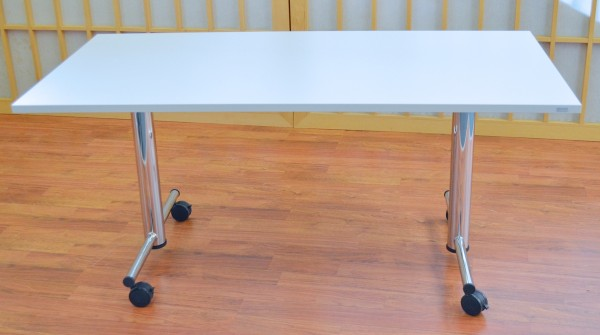 Fliptisch - 160 cm - weiß / Chrom - Heyne