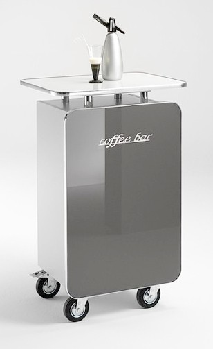 MS-Schuon Theke Coffee Bar - silber