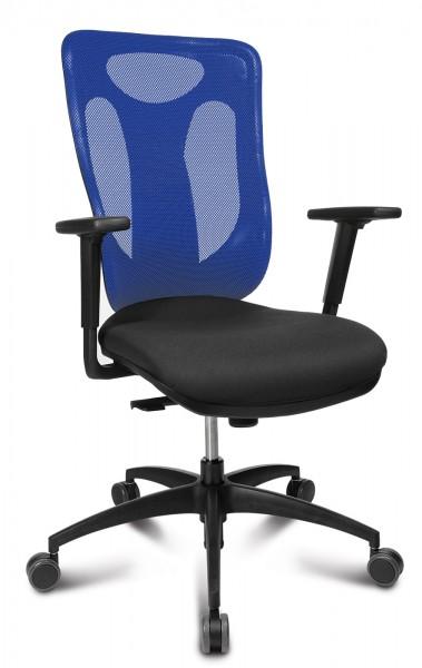Drehstuhl NET PRO 100 - schwarz / dunkelblau - Topstar