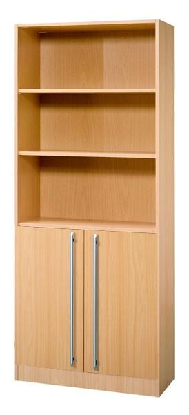 Schrankwand-System Solid 7: Büroschrank 5 OH mit Flügeltüren 2 OH