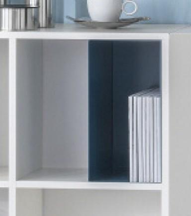 Regalbox/Metalbox Andorra, blau, 2er Set, Reinhard