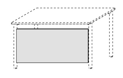 Schreibtisch-Sichtblende 80 cm mit Montage-Set