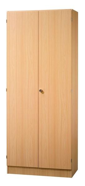 Schrankwand-System Solid 6: Garderobenschrank mit Ablagefach und Flügeltüren