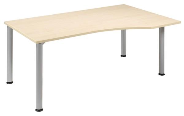 PC-Schreibtisch Freiform rechts 180 cm, stufenlos höhenverstellbar