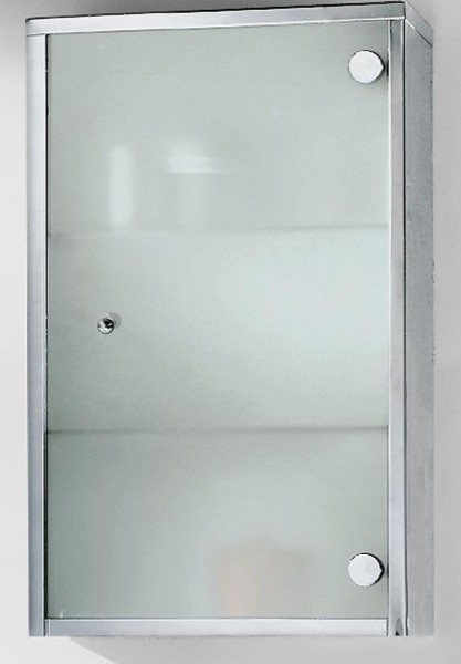 Badezimmer-Hängeschrank Lagio, Chromstahl, Reinhard