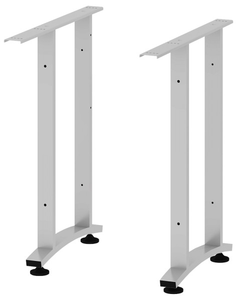 C-Fuß-Paar kurz, silbergrau
