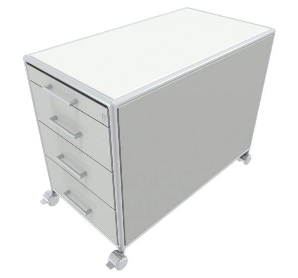Rollcontainer - 1 Materialfach + 3 Schubkästen - Bosse Modul Space - weiß