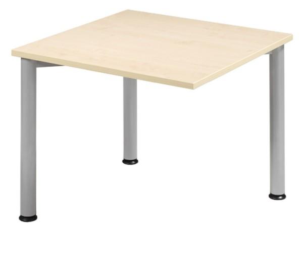 Anbau-Schreibtisch gerade 80 cm, 3 Füße, rechts verkettbar, stufenlos höhenverstellbar