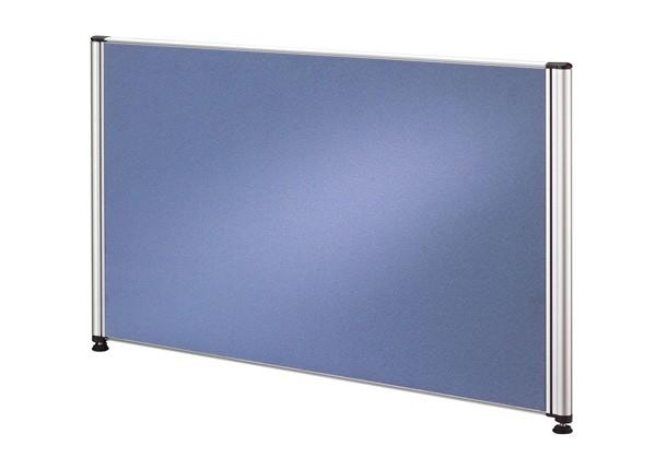 Callcenter Trennwand 77,5 cm mit Alufunktionsrahmen, Stoffbezug in Blau