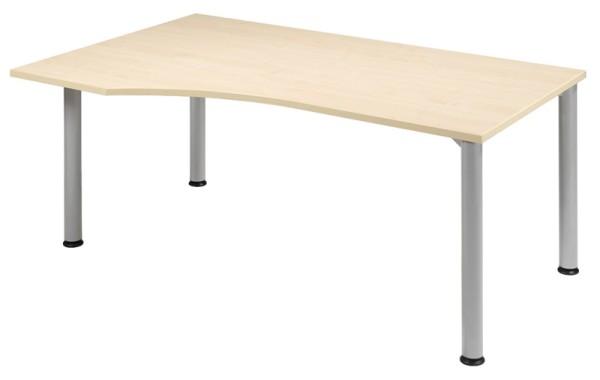 PC-Schreibtisch Freiform links 180 cm, stufenlos höhenverstellbar