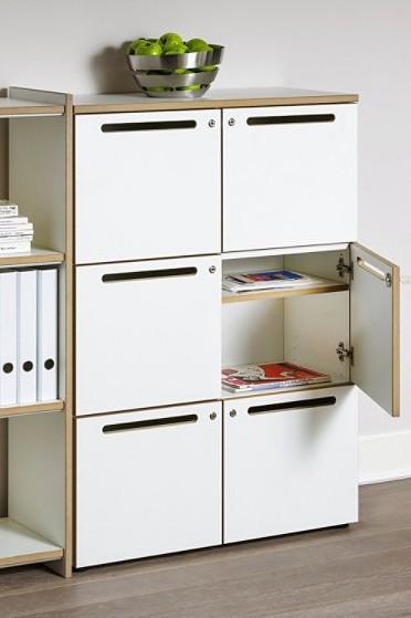 Postschrank / Wertfachschrank Archivar, weiß, Reinhard