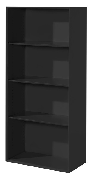 Regal hoch - 3 Fachböden, schwarz
