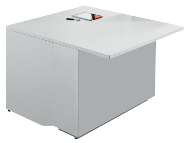 Anbautheke Zig-Zag - 100 cm - weiß - MDD
