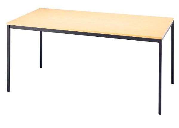 Konferenztisch gerade 160 cm, Tischfüße in Schwarz