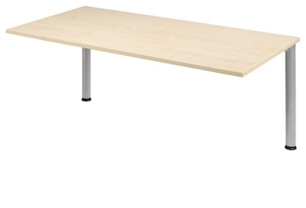 Schreibtisch-Zwischenelement gerade 160 cm, 2 Füße, stufenlos höhenverstellbar