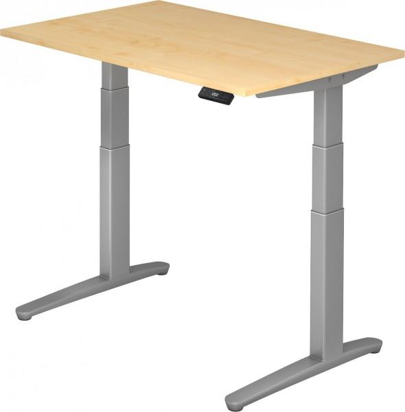Schreibtisch XBHM12, 120 cm, elektrisch höhenverstellbar, C Fuß-Gestell