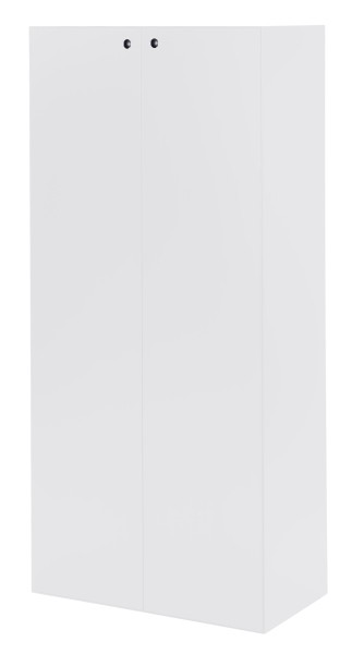 Schrank mit Türen, hoch - 3 Fachböden, weiß