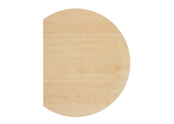 Verkettungsplatte Halbkreis 80 cm mit Stützfuß in Schwarz