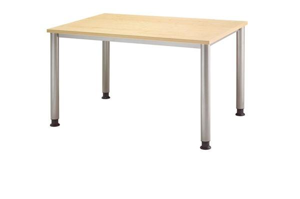 Schreibtisch gerade 120 cm, Tischfüße in Graualuminium