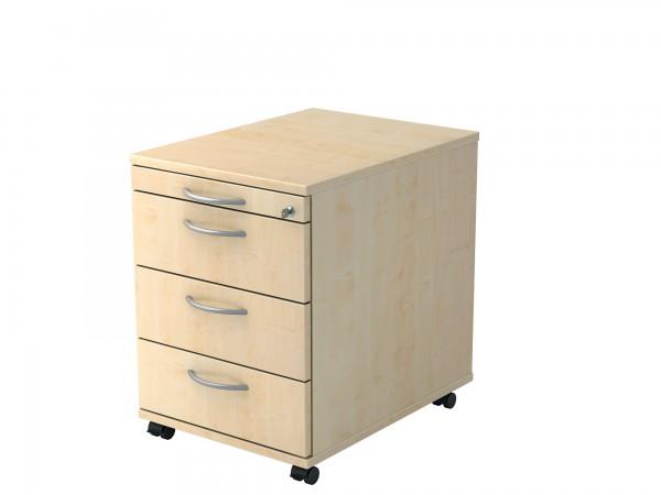 Rollcontainer SOLID mit drei Schubladen, abschließbar