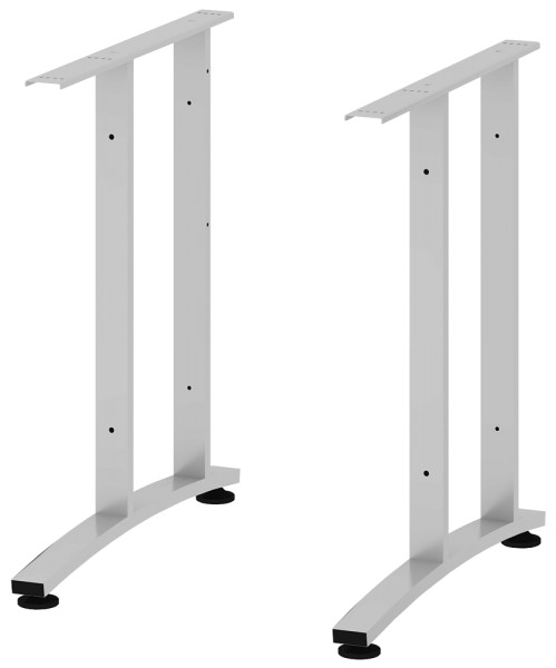 C-Fuß-Paar lang, silbergrau