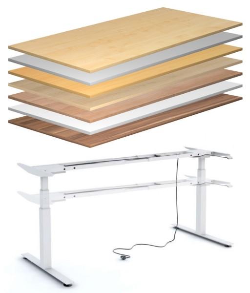 Schreibtisch 160 cm, elektrisch höhenverstellbar - Heyne-Ergo-Aktiv