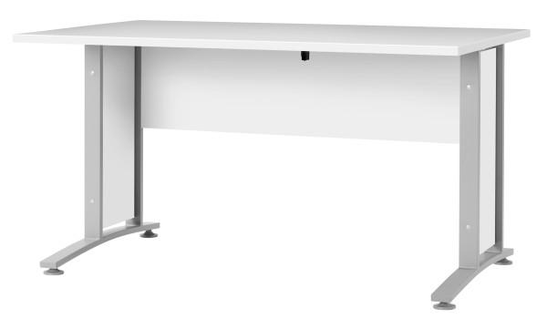 Schreibtischplatte 150 cm - Rechteckplatte mit Frontpaneel, weiss