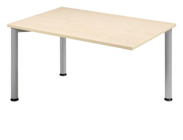 Anbau-Schreibtisch gerade 120 cm, 3 Füße, rechts verkettbar, stufenlos höhenverstellbar