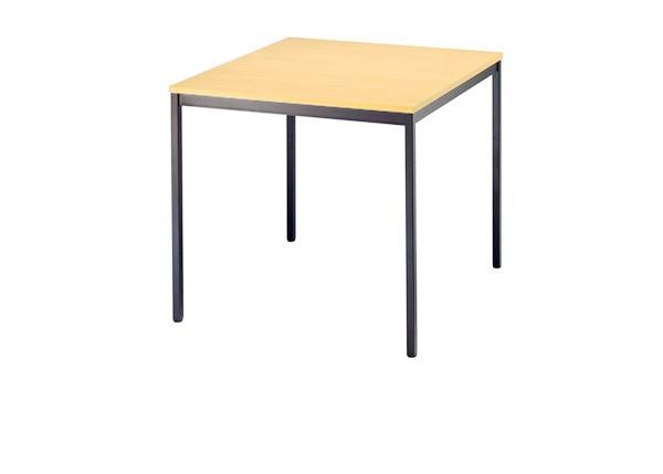 Konferenztisch gerade 80 cm, Tischfüße in Schwarz