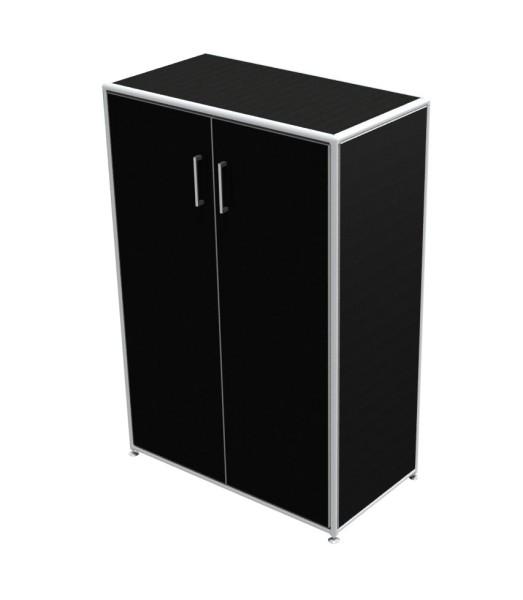 Regal 3 OH mit Türen - Bosse Modul Space - schwarz