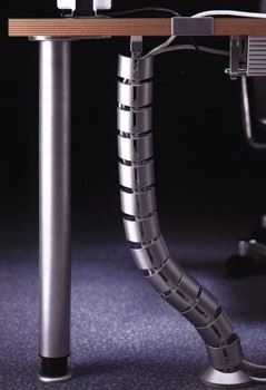 Kabelspirale vertikal 78 cm in Silber