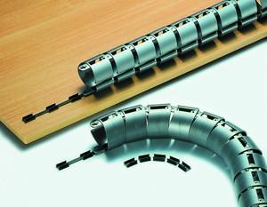 Kabelspirale horizontal 115 cm in Silber