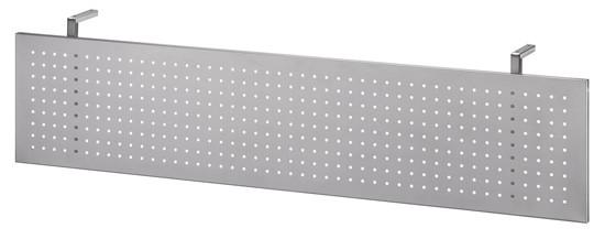 Sichtblende in Silber für Schreibtisch gerade 160 cm und 135° Winkelschreibtisch