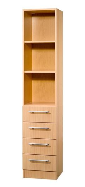 Schrankwand-System Solid: Büroschrank 5 OH mit drei Fächern und vier Schubladen