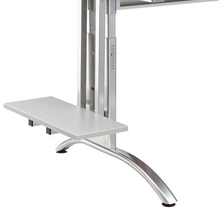 PC-Halterung zur seitlichen Montage am Schreibtisch, Dekor Silber