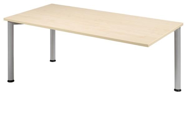 Anbau-Schreibtisch gerade 160 cm, 3 Füße, rechts verkettbar, stufenlos höhenverstellbar
