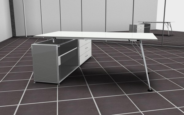 Nucleon Workstation - Bosse Modul Space - weiß