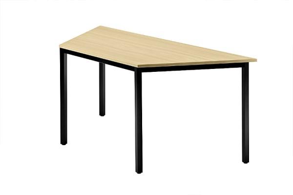 Konferenztisch Trapez 160 cm, Tischfüße in Schwarz